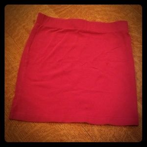 Red Forever 21 mini skirt size small